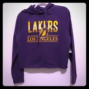 NBA brand Hooded Cropped Sweatshirt